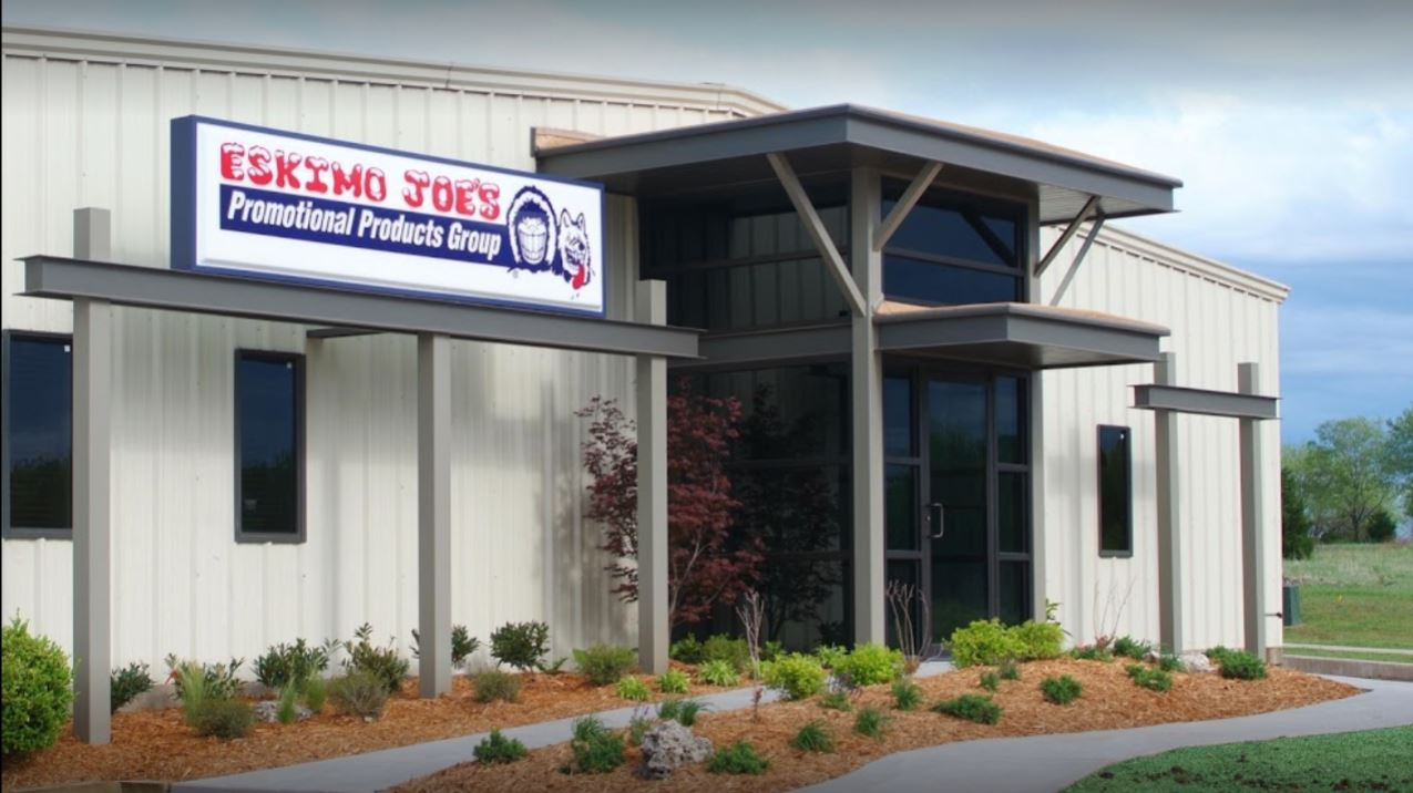 External photo of the Eskimo Joe's Promotion Products Group Expansion building