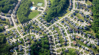 Ariel view of a housing subdivision