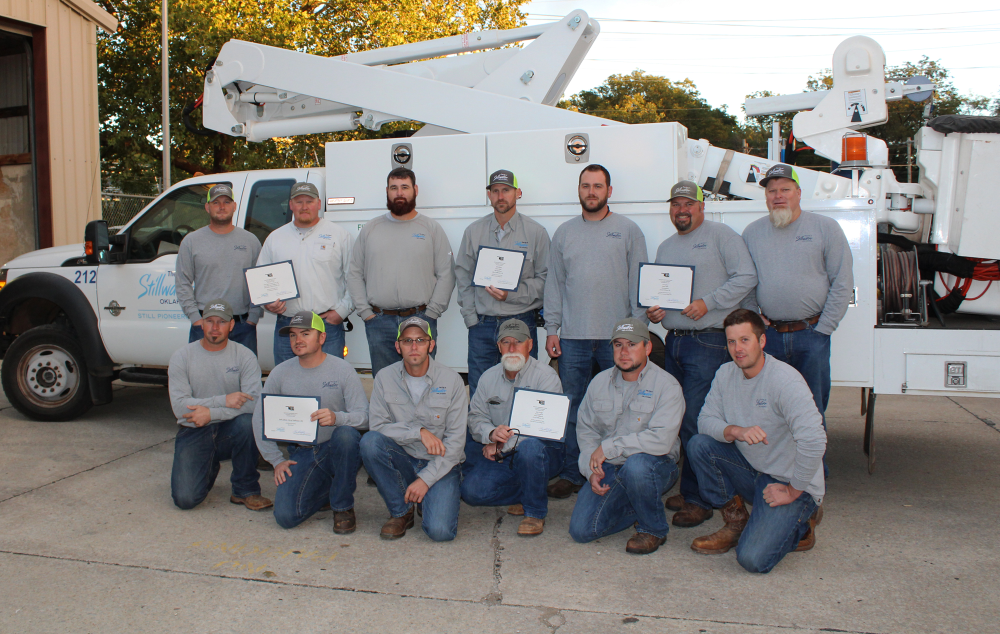 Photo of Team Stillwater for the 2018 MESO Lineworkers Rodeo