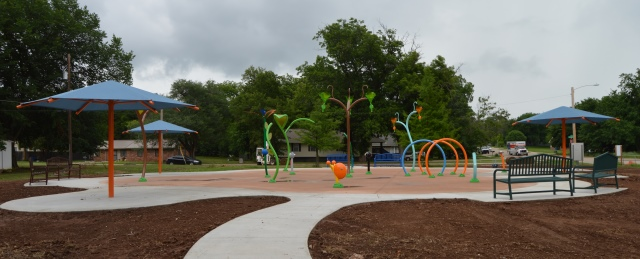 The Southern Woods splash pad nearing completion