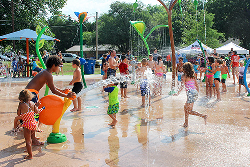 Southern Woods Splash Pad Grand Opening
