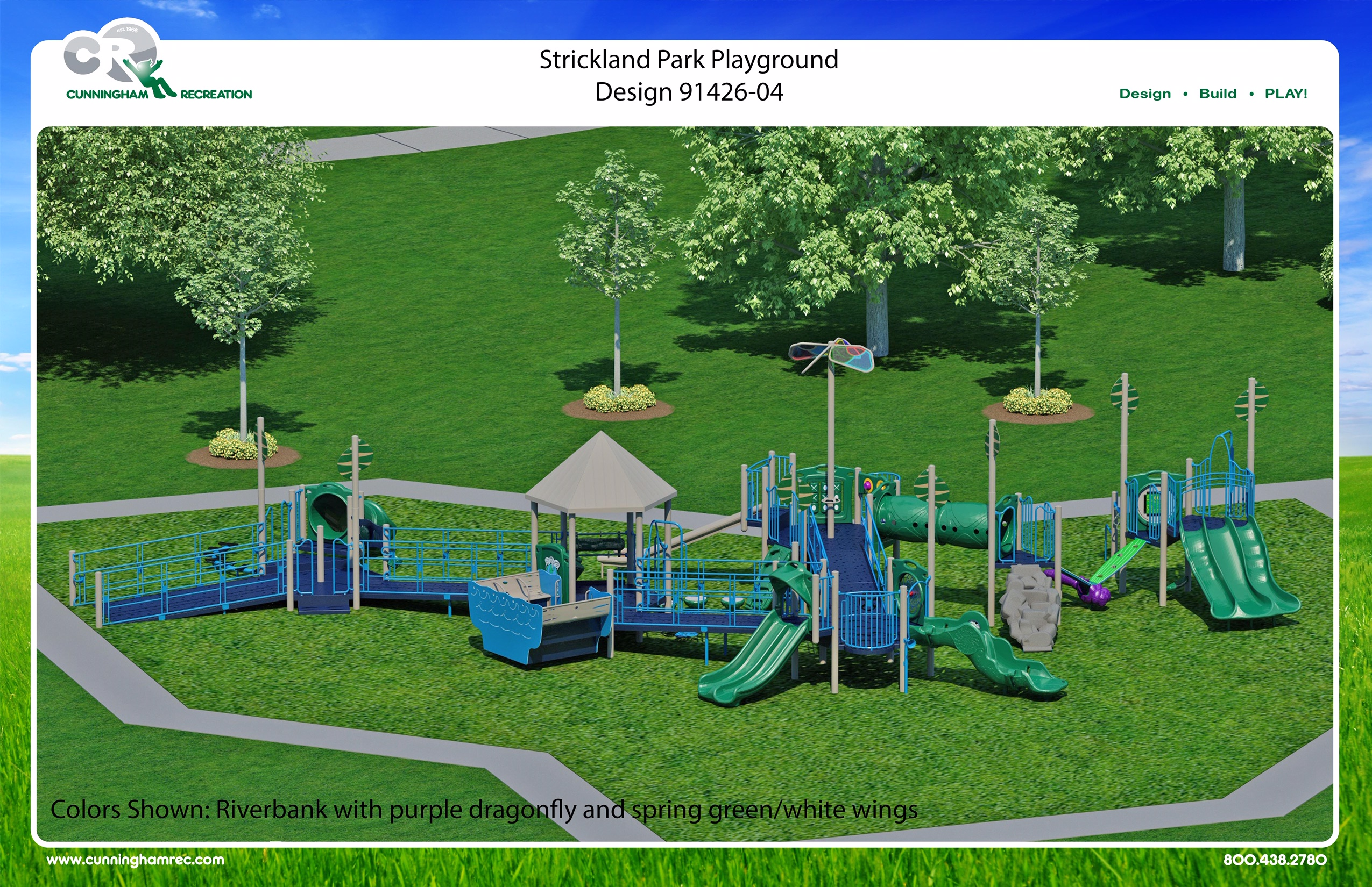 Color rendering of Strickland Park Phase 1