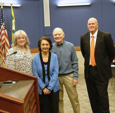 Photo-of-Patton-Family-Donating-Property-to-City-at-Council-Meeting
