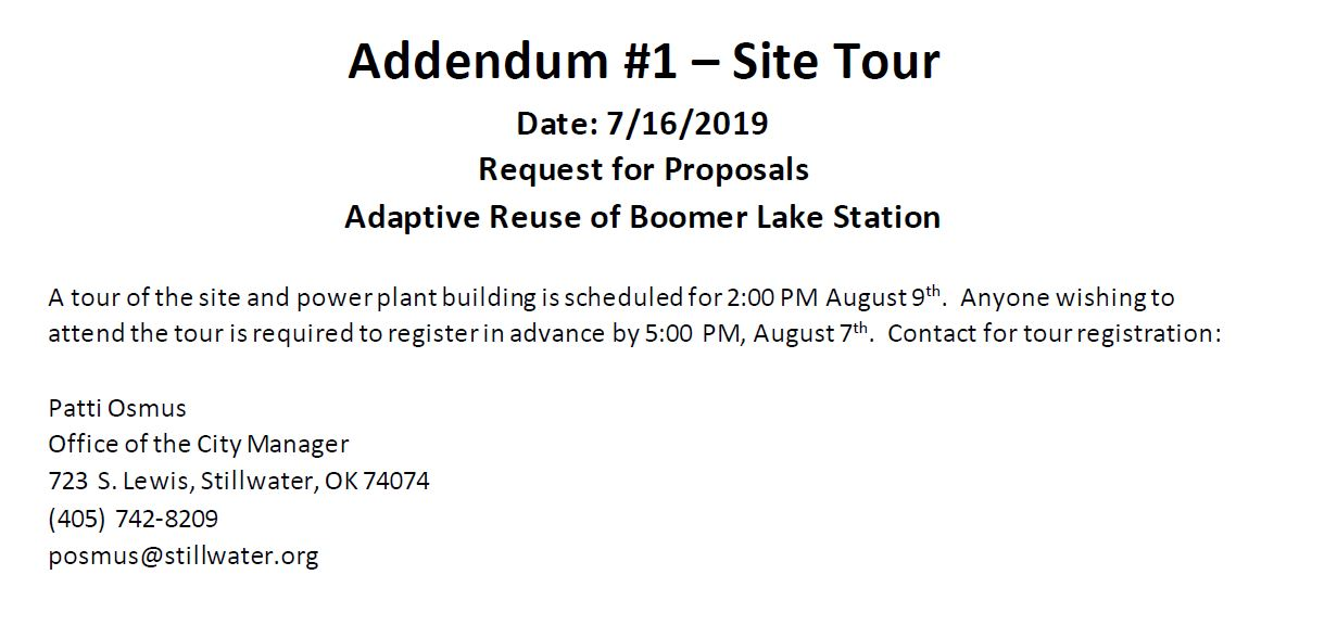 RFP for Adaptive Reuse of Boomer Lake Station