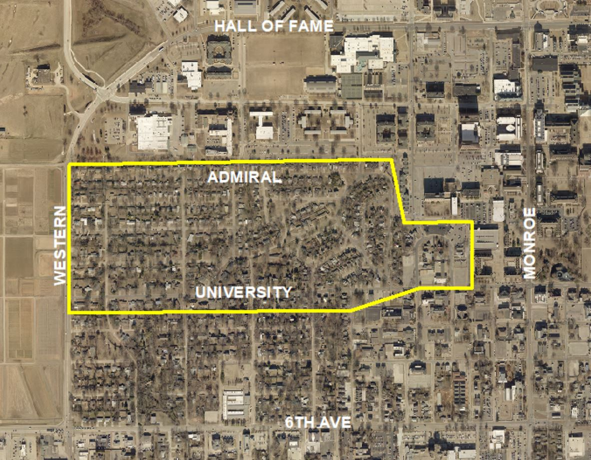 Map of College Gardens Area where sewer lines will be replaced